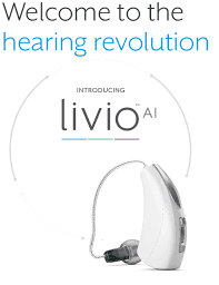 A close up of a Livio A.I. Hearing Aid